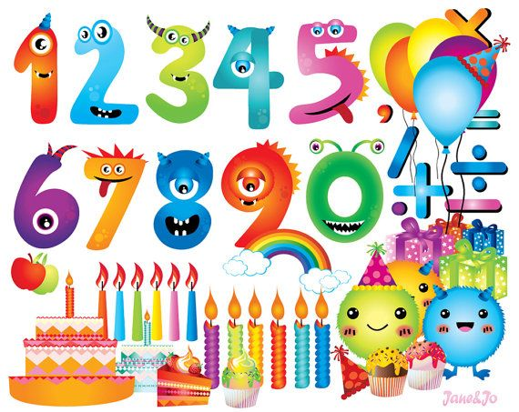 free clipart birthday numbers - photo #34