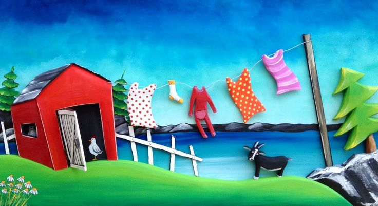 Clothesline by the sea / The Grumpy Goat Gallery