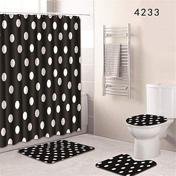 Amazon Com Oyeahbridal Set Of 4 Art Design Theme Shower Curtain