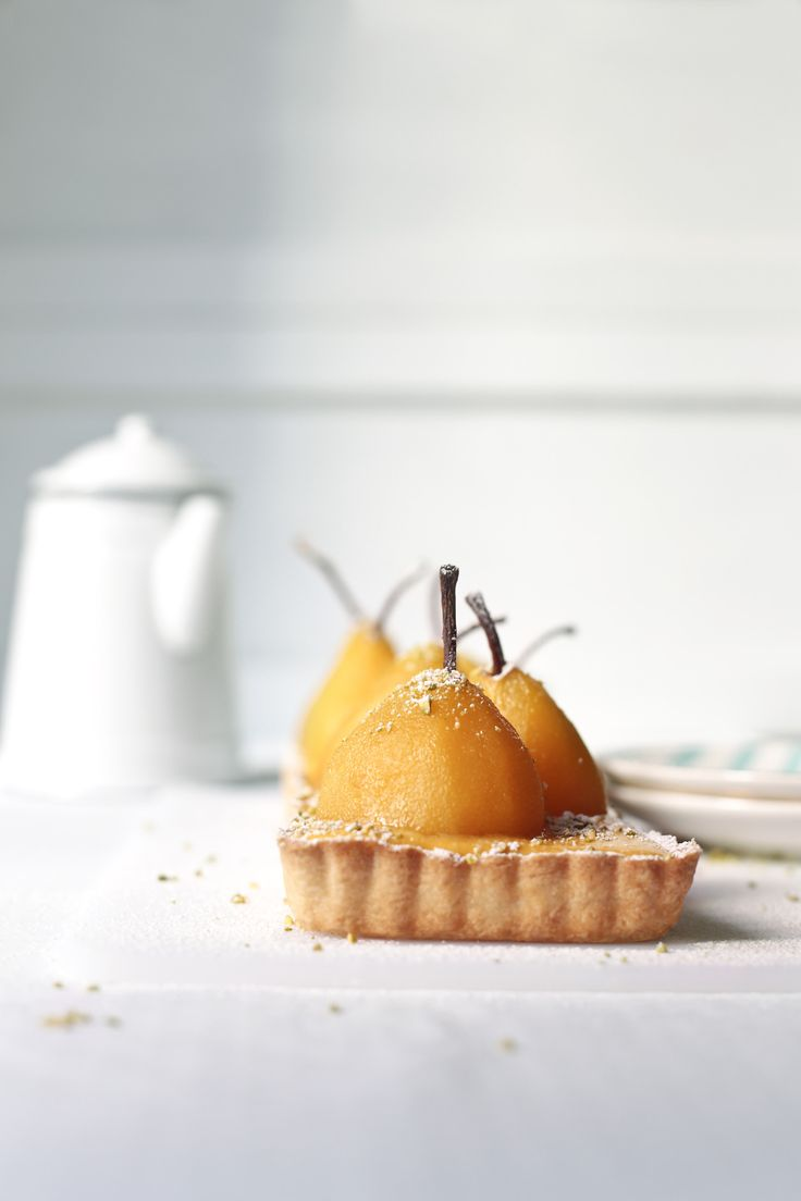 pear and saffron tart.