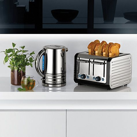 Buy Dualit 72925 Architect Kettle, Polished Steel with Black Trim Online at johnlewis.com
