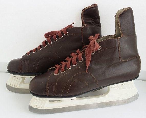 Good price Vintage men's hockey skates // от USSRVintageShopUSSR