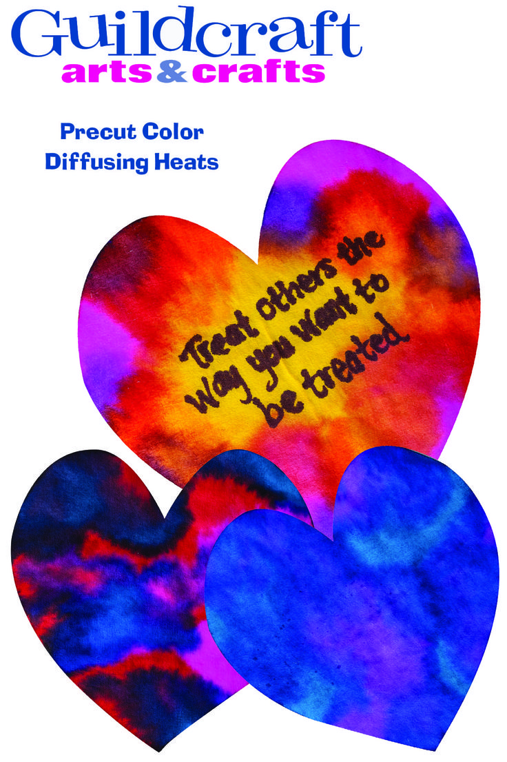 Precut color diffusing hearts from guildcraft arts for Guildcraft arts and crafts
