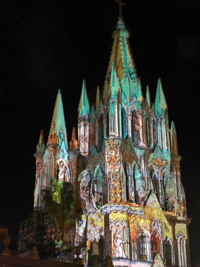 The Colors of Catedral de San Miguel de Allende, Guanajuato, Mexico