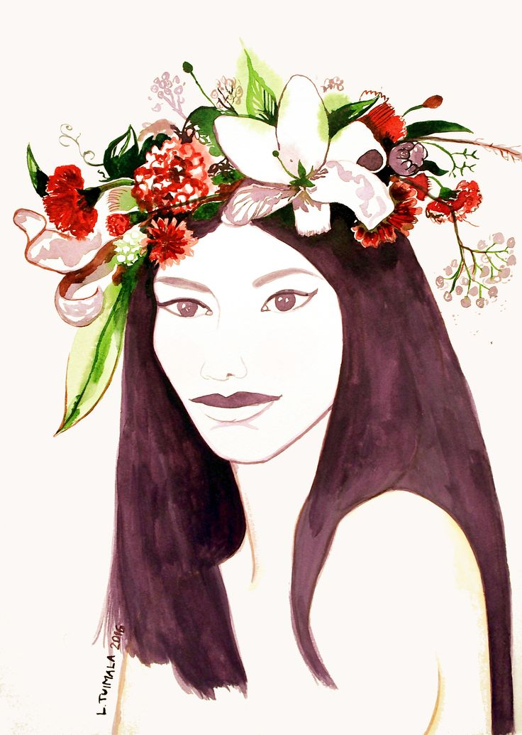 """Shy girl"" by Finnish artist L. Tuimala http://www.liisatuimala.com"