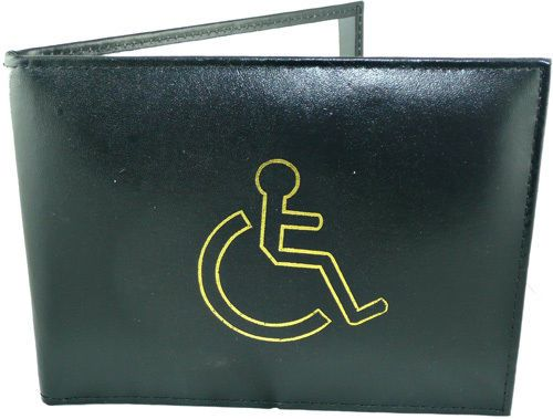 Leather-Disabled-Blue-Badge-Holder-Cover-Soft-Wallet-Protector-Parking-Permit-PU