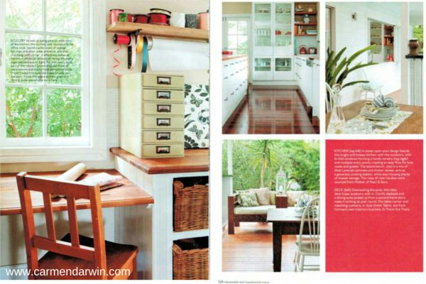 Just a couple of pages from the feature article on our home in Home Beautiful Magazine. View the story here. http://www.carmendarwin.com/project/in-the-press/