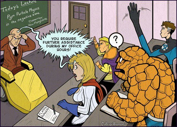 If Superheroes Went To College - CollegeHumor Post