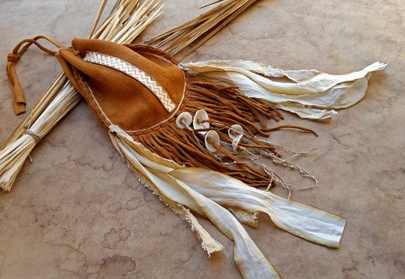 $275.00 sold-Elk Hide Medicine Bag  Possibles Bag  Belt Bag  by DesertTalismans