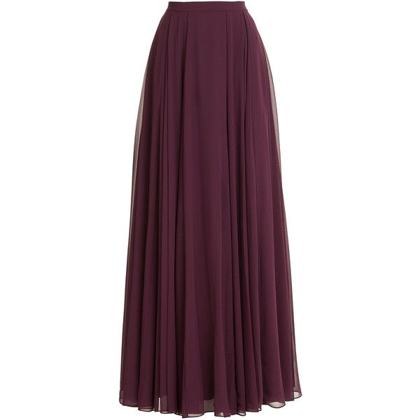 Halston Heritage Maxi Skirt found on Polyvore