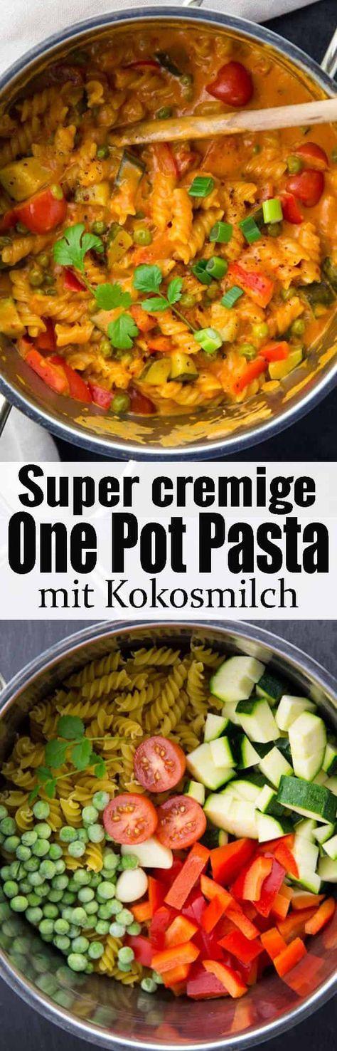 Einfaches One Pot Pasta Rezept gesucht? Diese vegane One Pot Pasta mit Kokosmilc… – Vegan Stuff