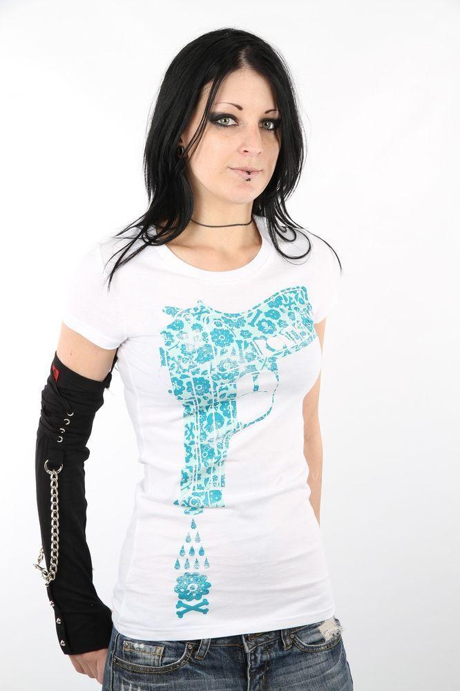 Iron Fist White Water Gun Pistol Flowers Ladies Tee T-Shirt IFL0544 $45.50 CAD Now 75% OFF