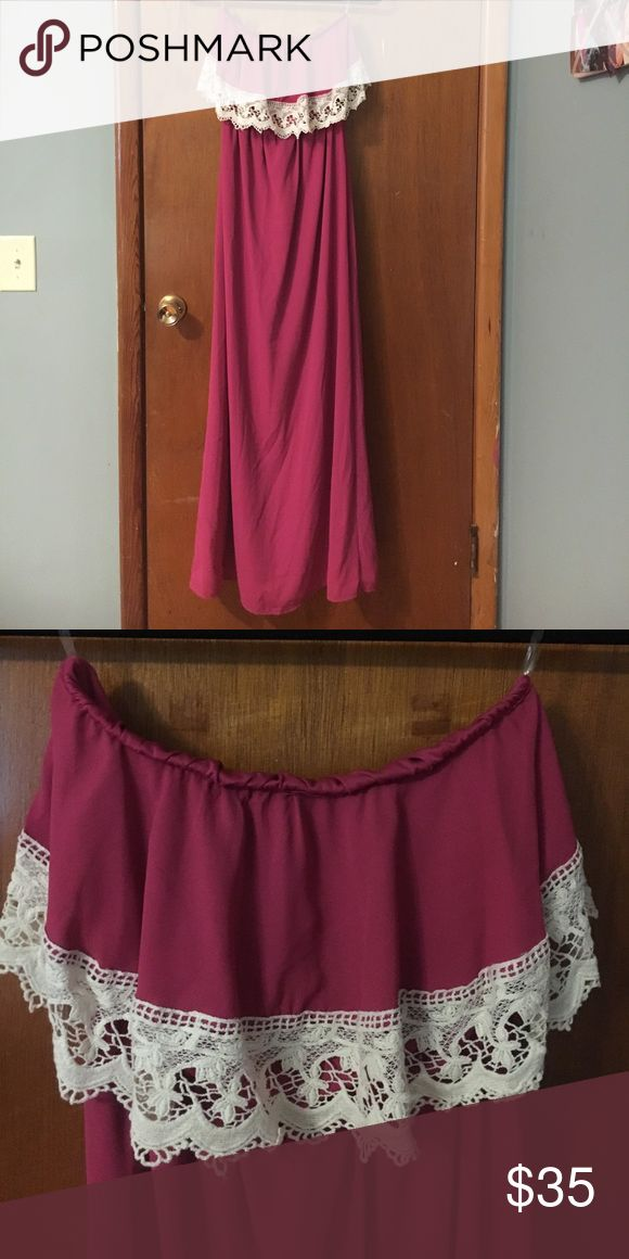 Strapless maxi dress NWOT• purchased from a boutique peach love Dresses Maxi