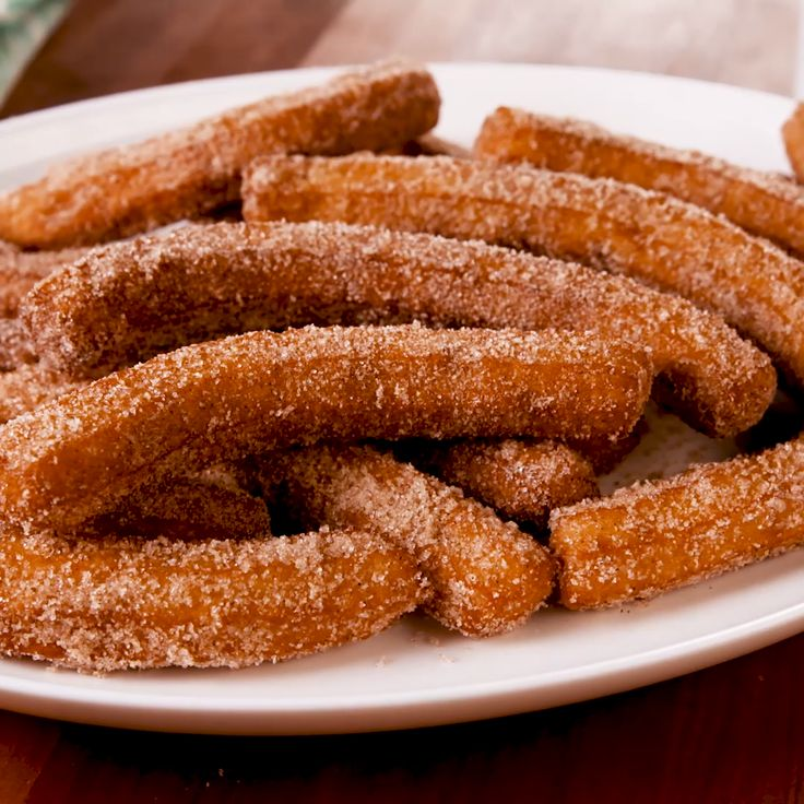 We don't often feel like breaking out all of our oil to fry things. But when you have an easy churro recipe this delicious, it's absolutely worth it. They only take a few minutes to fry and will actually still taste good at room temp, making them a great party dessert! Get the recipe at Delish.com. #delish #easy #recipe #churros #dessert #mexicanfood #dessertrecipes #cinnamon #sugar #chocolate