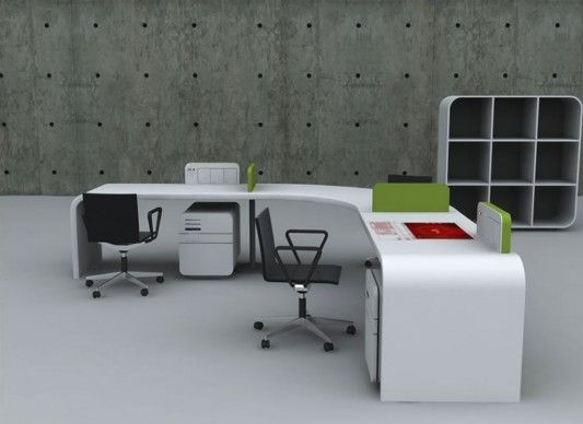Futuristic Office Desk Concept