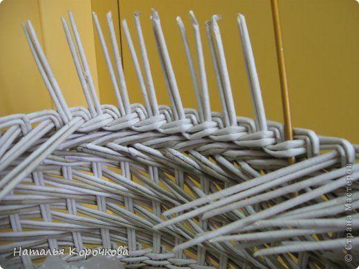 Поделка изделие Декупаж Плетение Постигаем новое подсказки Картон Салфетки Трубочки бумажные фото 5