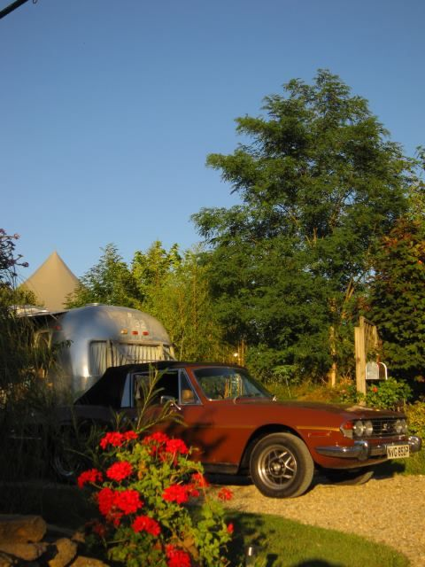 Airstream Retro Trailer Park, Midi Pyrenees. We provide organic meat, olive oil and the neighbours' eggs, vegetables and fruits http://www.organicholidays.co.uk/at/2566.htm