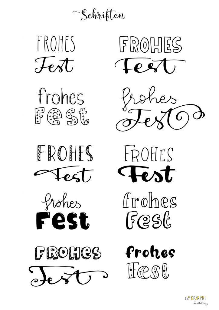 Weihnachtskarten mit Faux Calligraphy gestalten