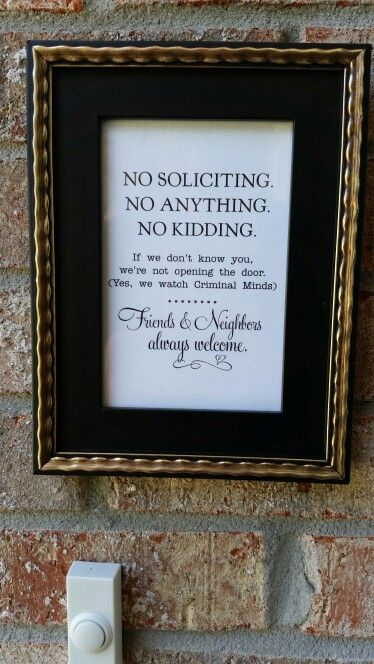 No Soliciting Sign - Cute But Firm :)