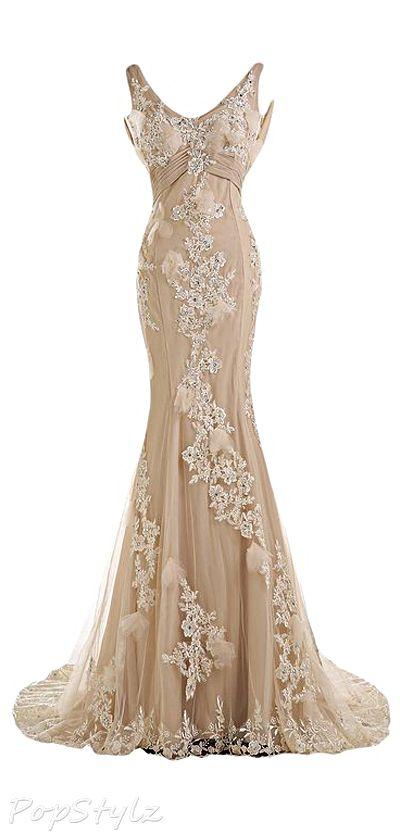 Long Lacy Gown - Stunning ! http://www.wedding-dressuk.co.uk/prom-dresses-uk63_1