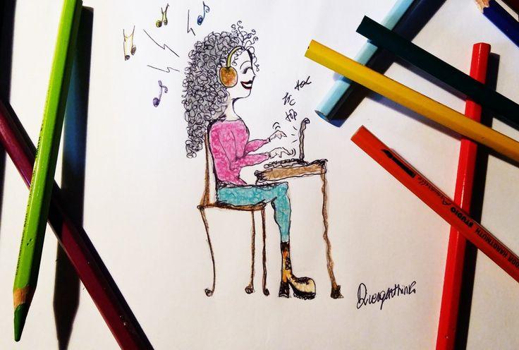 La mia postazione da superhero blogger! Musica e taanta scrittura ;) www.divergenthink.it