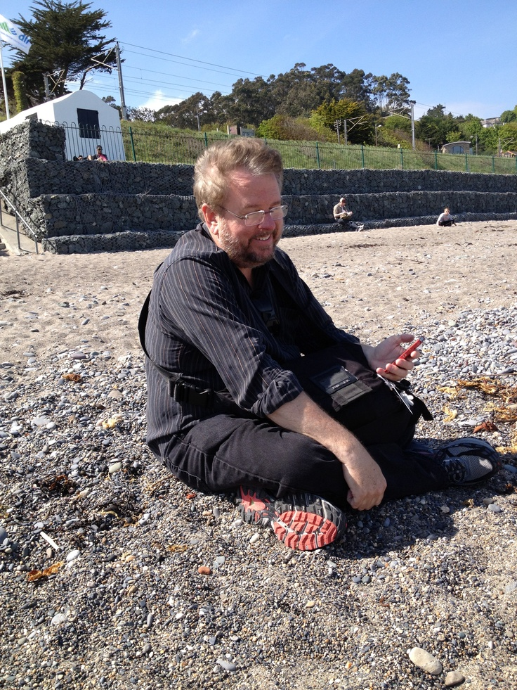 Mitch on the beach, north of Graystones.