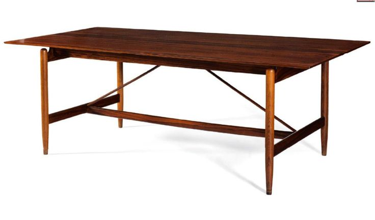 Finn Juhl // Niels Vodder // Unique Work Table // Rosewood