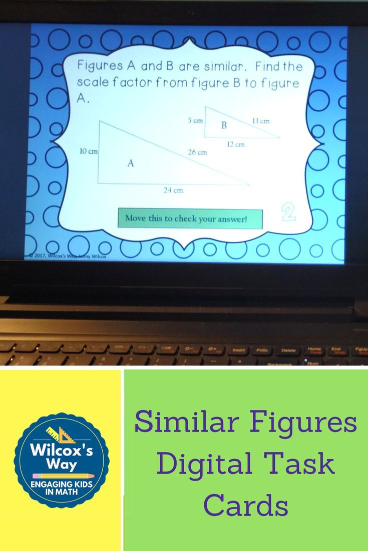 Students Practice Finding Similar Figures Scale Factor Missing Side Lengths Indirect Meas Task Cards Maths Activities Middle School Math Games Middle School