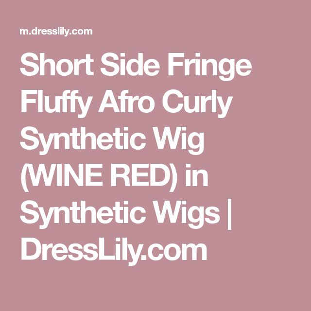 Short Side Fringe Fluffy Afro Curly Synthetic Wig (WINE RED) in Synthetic Wigs | DressLily.com