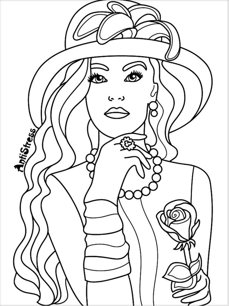 Best 898 Beautiful Women Coloring Pages for Adults ideas ...