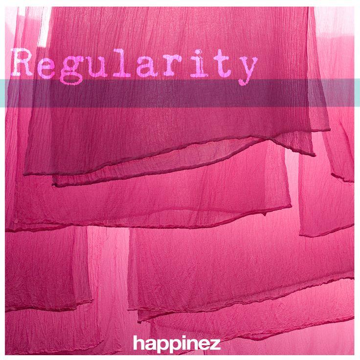 Regelmaat is de basis van je spirituele oefening, het is de beste manier om een onrustige geest te kalmeren. Dus: sta op een vaste tijd op. Mediteer op een vast moment. Neem elke dag even de tijd om de dag te overdenken. Koester dat moment. Wat is het ritme in je dag? Welke gewoonte zou je willen loslaten of juist steviger willen inbedden? Geïnspireerd door het lied van de 18 ity's plaatsen we elke week een nieuwe ity op Pinterest. Leuk als jij ook je inzichten deelt!