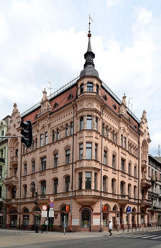 Łódź (city of tenements) Poland Piotrkowska street