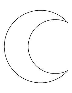 Printable Crescent Moon Template | Moon pattern, Moon ...