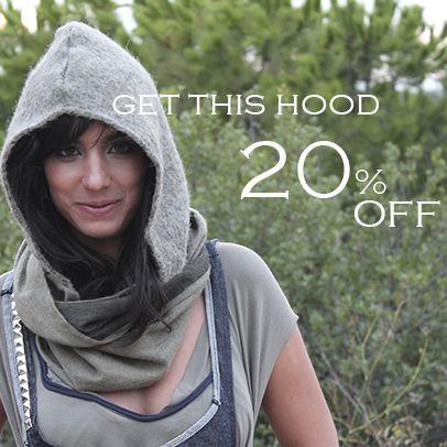 Melchior Fashion Hooded scarf on sale!!! 20%off  www.cachetoi-bcn.com