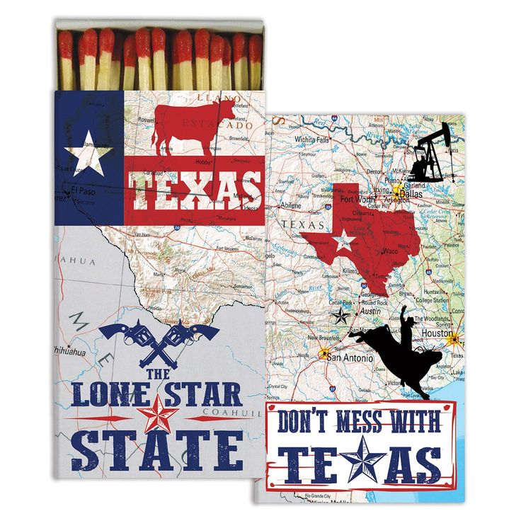 Matches - Don't Mess with Texas, The Lone Star State