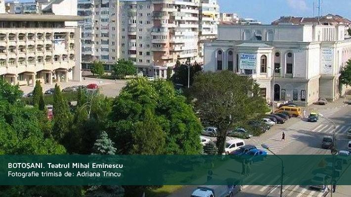 Botosani. Teatrul Mihai EminescuPoza trimisa de catre Adriana Trincu  28 de poze frumoase cu orase din Romania (partea 2).  Vezi mai multe poze pe www.ghiduri-turistice.info