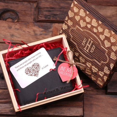 Customlized Valentine's Brown Wallet w/ Metal Card - click to get yours right now!
