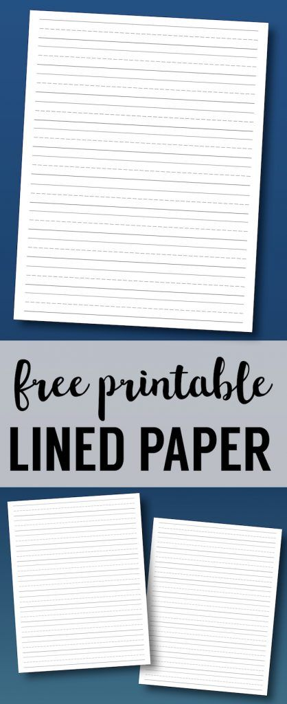 Free Printable Lined Paper {Handwriting Paper Template}. Kindergarten writing paper. Blank lined writing paper for handwriting practice. #papertraildesign #handwritingpractice #educational #homeschool