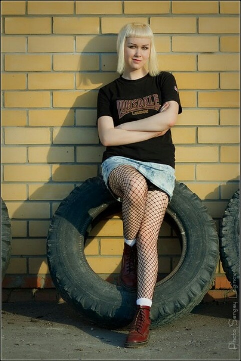 Girl hot skinhead