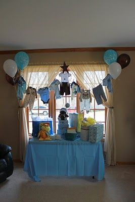 Baby boy shower decorations