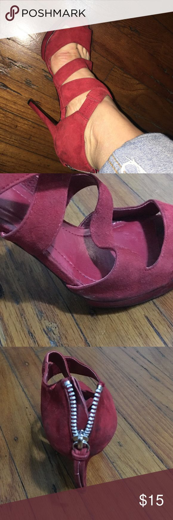 BCBG Red High Hells, size 35.5 BGBG red high heels, size 5.5 , excellent conditions BCBG Shoes Heels