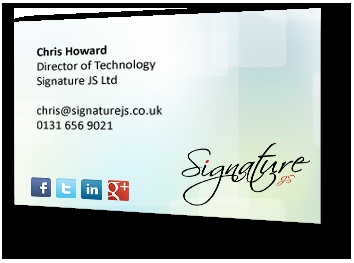 This is a great product saves a lot of time and money and brings in contacts - Signature JS Ltd