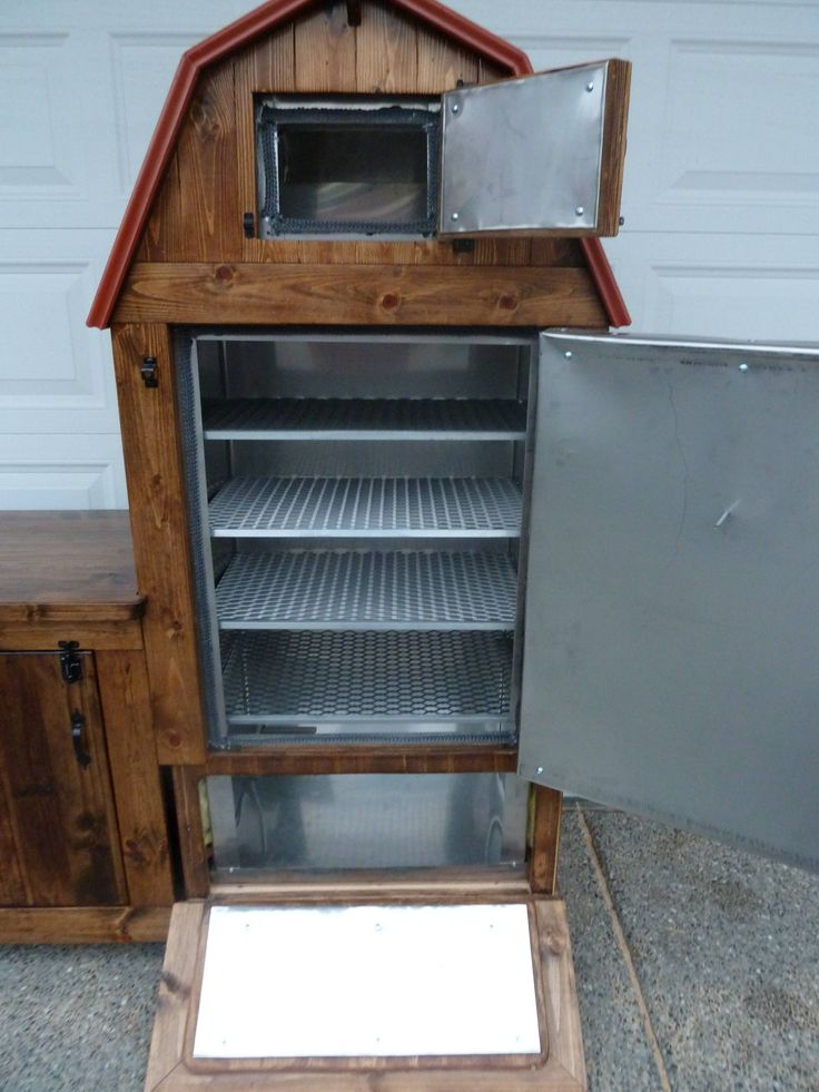 Custom smoker. Interior.