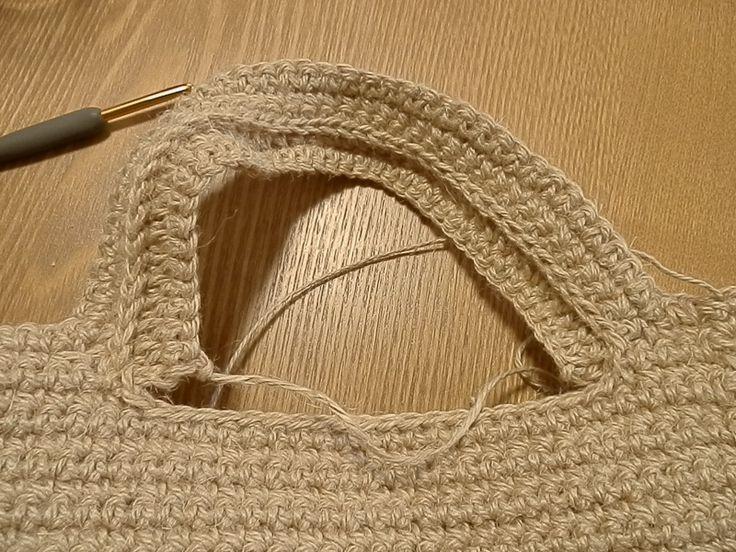 ★麻紐バッグ持ち手の編み方★