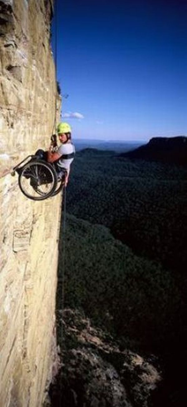 Wheelchair rock climbing......that's MILEANHOUR!