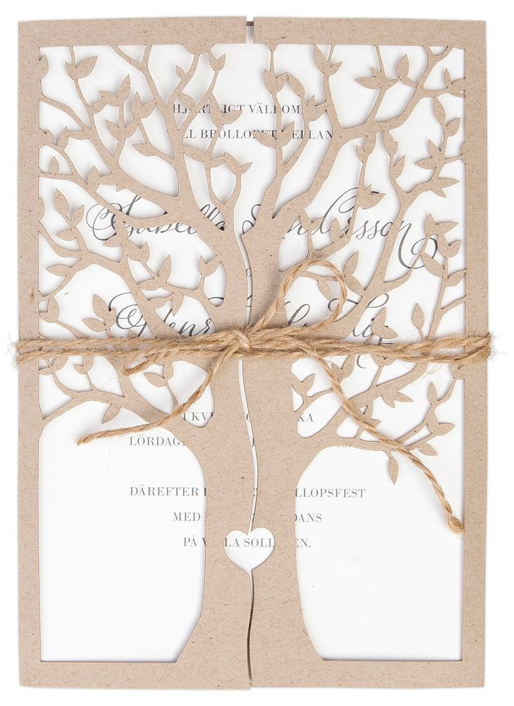 Inbjudningskort,<br>Tree of love, natur i gruppen BRÖLLOP / KORT / Inbjudningskort hos Calligraphen i Munkfors AB (set60004)