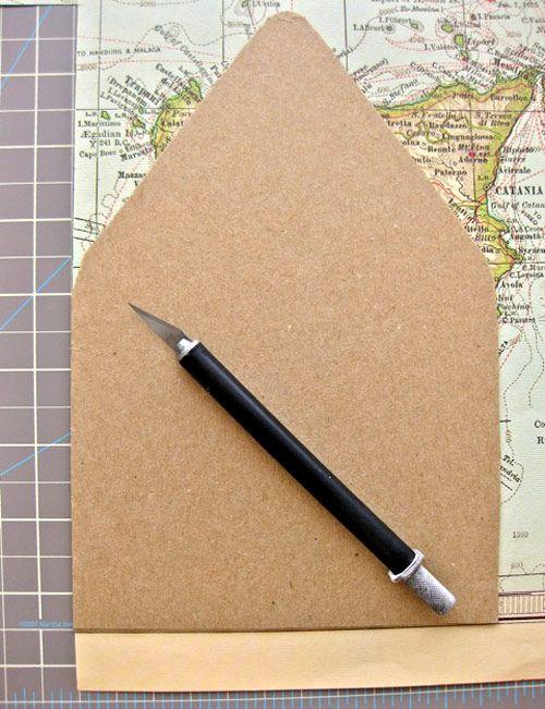 diy project: travel map correspondence set