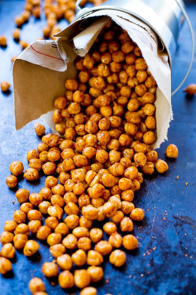 Crispy BBQ Roasted Chickpeas - The perfect healthy and filling snack to enjoy anytime of the day! {gluten free, vegan}