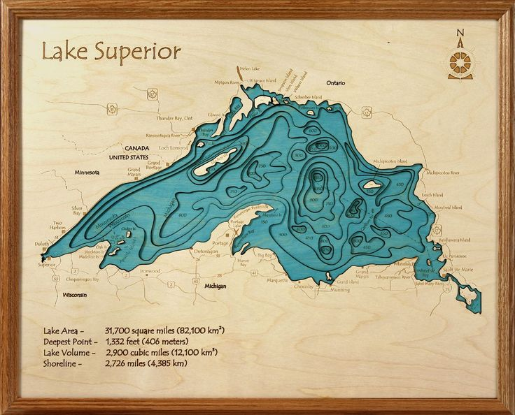 Lake Superior Custom wood Lake Art Map. Work with our designers to FULLY CUSTOMIZE your map.Add your name, house location, or town. www.lake-art.com
