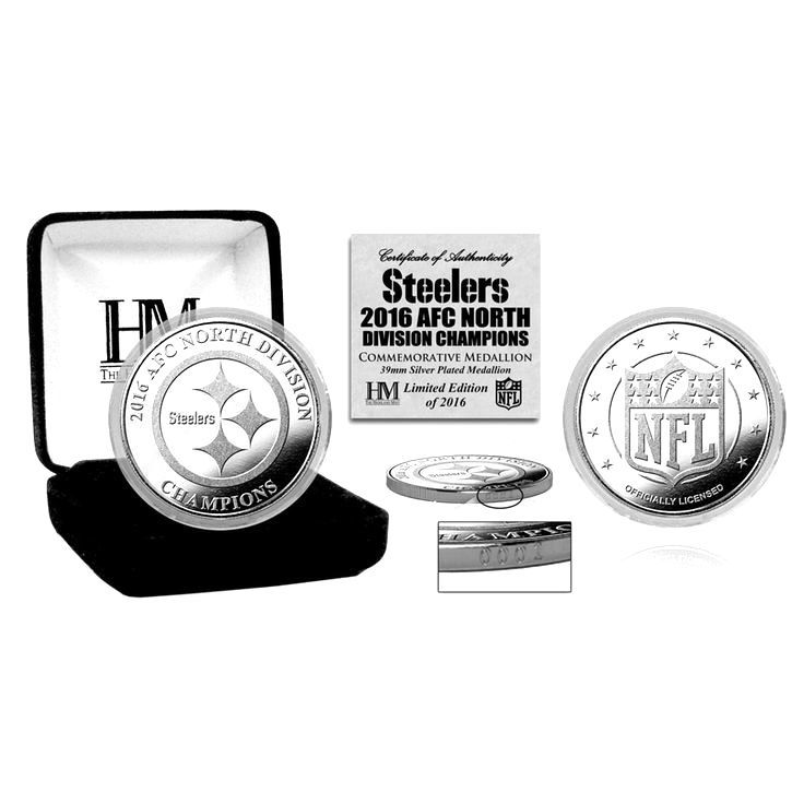 Pittsburgh Steelers Highland Mint 2016 AFC North Division Champions Silver Mint Coin - $19.99
